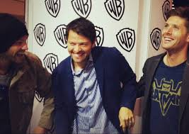 Jared Padalecki, Misha Collins and Jensen Ackles from Supernatural. I love these idiots...