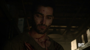 Tyler Hoechlin as Teen Wolf's Derek Hale.